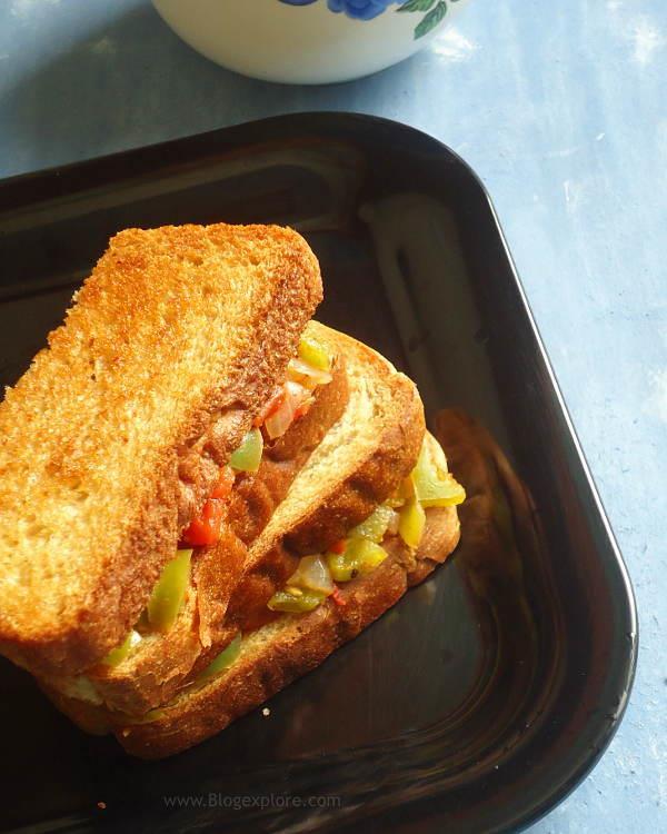 Capsicum Tomato Sandwich