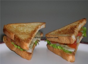 Cucumber Tomato Sandwich