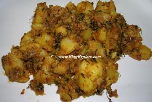 Methi Aloo (Potato and Fenugreek leaves) Sabzi