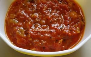 tomato chutney, thakkali chutney, tamatar chutney