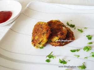 raw banana tikki, kaccha kela tikki, indian plantain tikki recipe