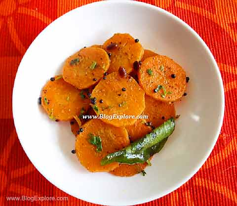 carrot fry, gajar sabzi recipe, carrot poriyal recipe
