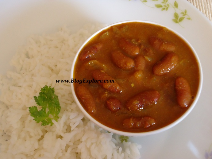 rajma masala recipe, rajma chawal recipe, red kidney beans curry ...