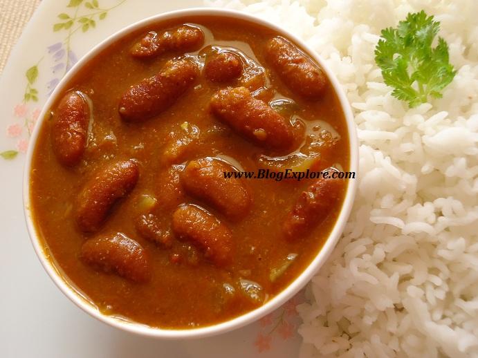 rajma masala recipe, rajma chawal recipe, red kidney beans curry ...