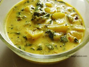 methi dahi curry, fenugreek leaves yogurt curry