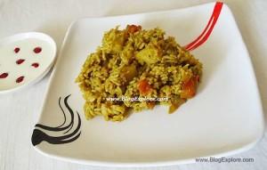 palak chawal, spinach rice recipe, palak rice recipe