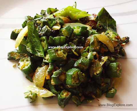 bhindi sabzi, vendakkai poriyal recipe, okra fry recipe