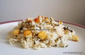 paneer pulao, paneer rice recipe