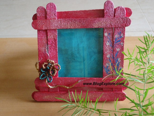 Popsicle Stick Photo Frame - Indian Recipes - Blogexplore