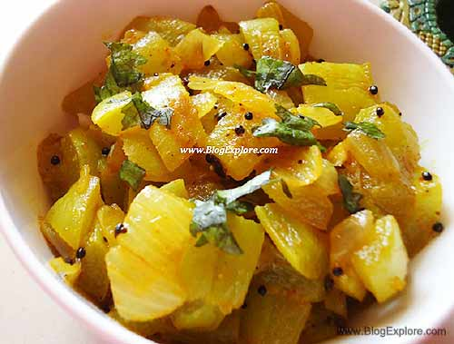 Snake Gourd Fry   Pudalangai Poriyal - Indian Recipes ...