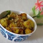 vazhakkai milagu varuval, how to make vazhakkai varuval, how to prepare raw banana fry, kachha kela sabzi, kacche kela sabzi, raw banana peppery fry, plantain pepper fry