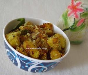 Vazhakkai Milagu Varuval | Raw Banana Pepper Fry