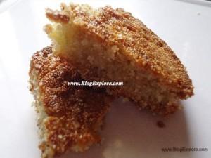 Eggless Semolina Banana Cake