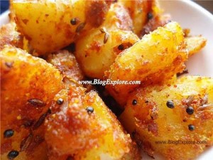 potato roast recipe, aloo roast recipe, south indian urulai roast recipe