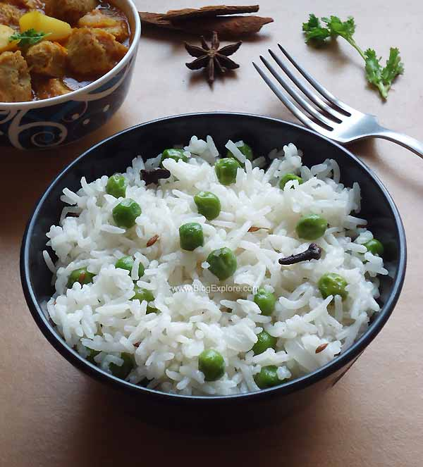peas pulao recipe, matar pulao recipe