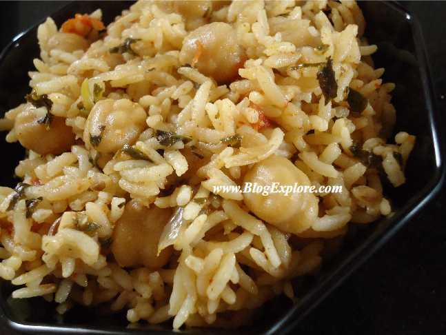 Chickpea Pulao Recipe Chole Kabuli Chana