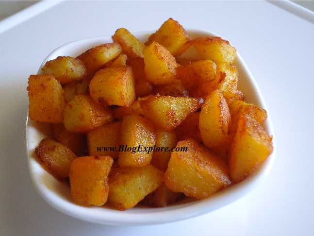 Simple potato fry aloo fry indian recipes blogexplore simple potato fry recipe aloo fry recipe forumfinder Image collections