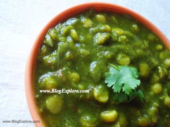 palak chana dal recipe, split bengal gram dal spinach recipe