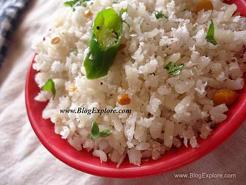 thengai aval, coconut poha recipe, beaten rice coconut upma recipe