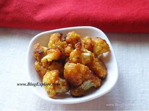 Crunchy Masala Cauliflower ( Oven Roasted )