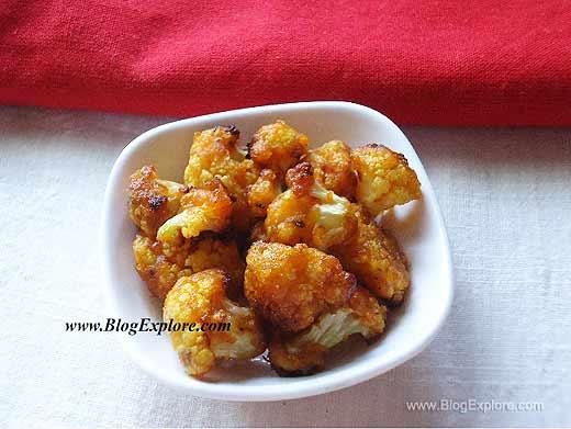 blogexplore.com crunchy masala cauliflower oven roasted Crunchy Masala Cauliflower ( Oven Roasted )