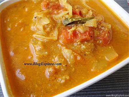 Cabbage curry andhra