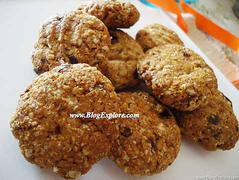 eggless dates and oats cookies recipe, healthy eggless butterless oats cookies recipe