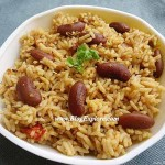 rajma pulao, red kidney beans rice pulao recipe