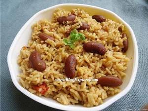 Rajma Pulao / Kidney Beans Pulao