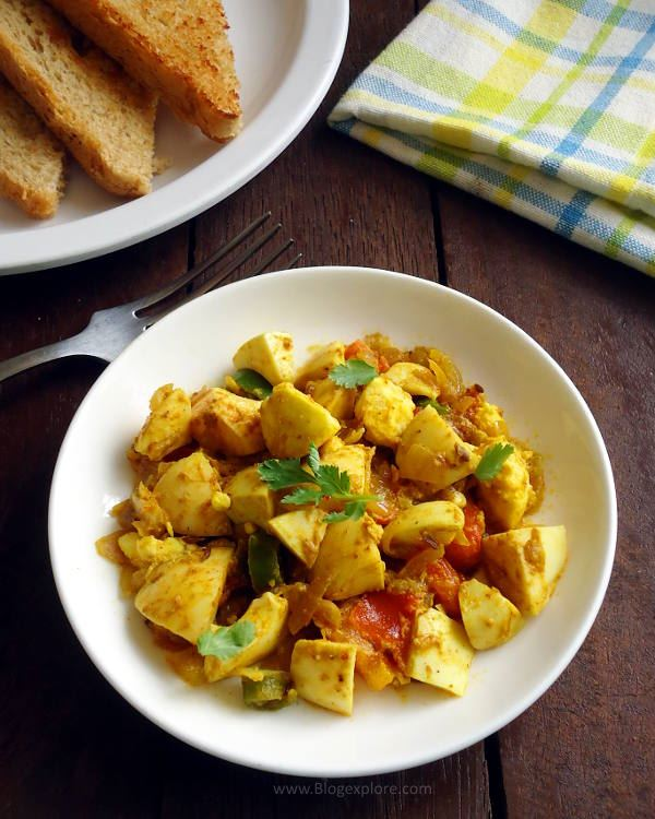boiled egg bhurj recipe, boiled anda bhurji recipe