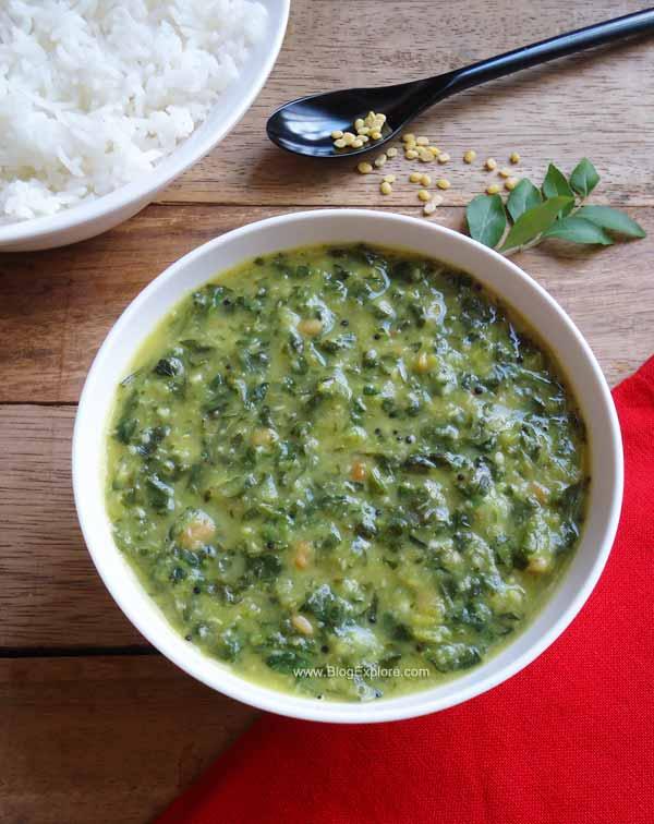 keerai kootu recipe, greens kootu recipe