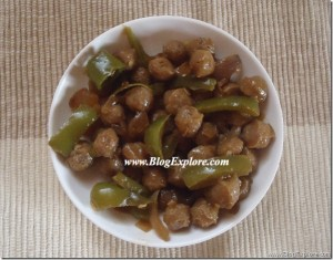 Chilli Soya Chunks / Meal Maker Chilli