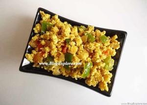 Paneer Capsicum Bhurji Recipe