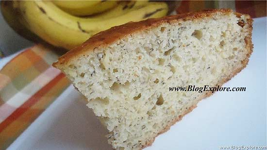 Low Calorie Rice Cake Recipes: Easy Butterless Banana Cake - Indian