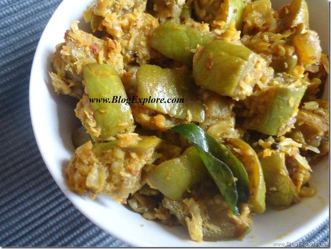 green brinjal poriyal recipe