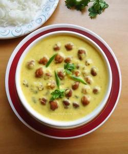 Jaisalmeri Kala Chana   Black Chickpeas in Yogurt Gravy