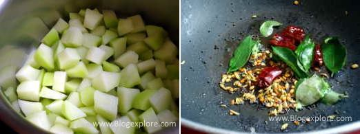 tempering spices for chow chow poriyal recipe