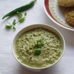 pudina coconut chutney recipe, mint coconut chutney recipe