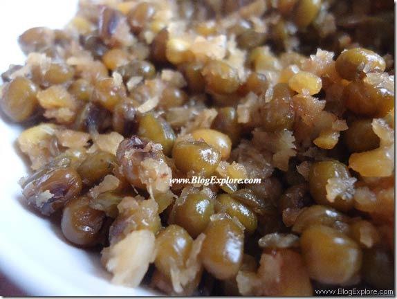 pachai payaru sweet sundal recipe, green gram sweet sundal recipe