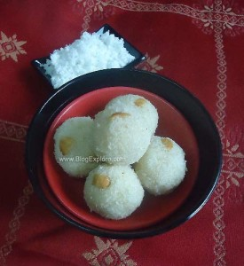 Coconut Rava Ladoo | Easy Diwali Sweets Recipe