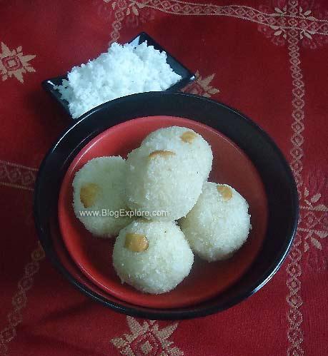 coconut rava ladoo, semolina coconut dessert recipe, nariyal suji ladoo recipe