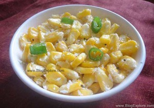 sweet corn sundal recipe, navratri sundal recipe