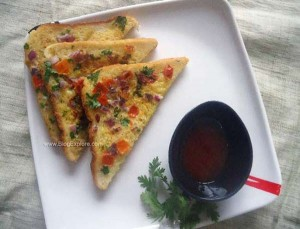 masala egg toast recipe, indian masala bread egg toast recipe