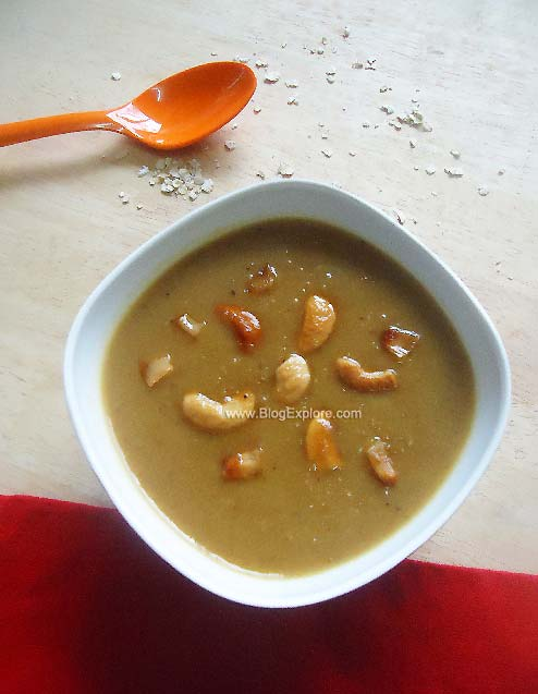 oats payasam with jaggery, oats payasam recipe, oats jaggery kheer recipe