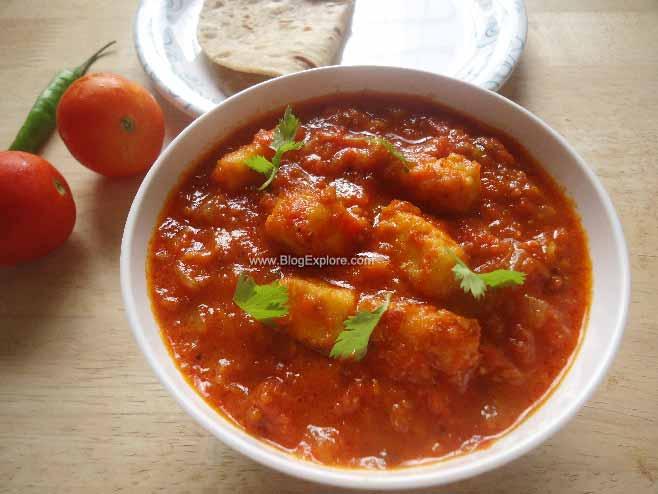 paneer tomato curry recipe, indian cottage cheese tomato gravy recipe
