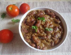 rajma coconut curry, south indian style rajma coconut curry recipe,red kidney beans coconut curry recipe