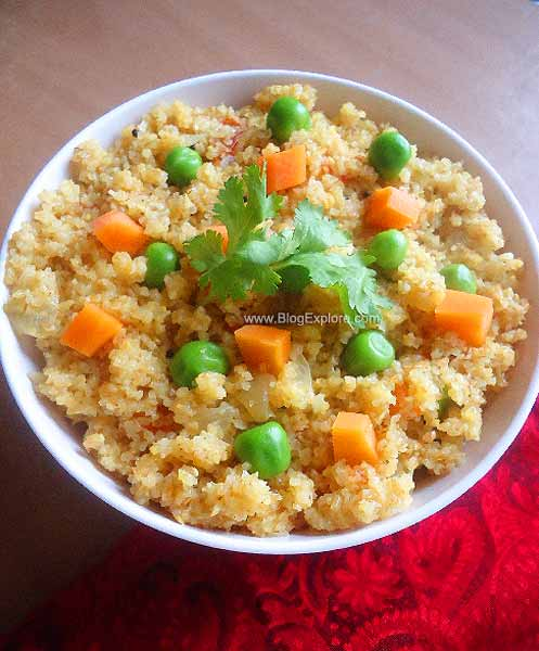 cracked wheat vegetable upma recipe, broken wheat upma recipe, dalia vegetable upma recipe