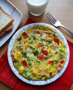 Masala Omelette / Indian Style Omelette