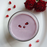 pomegranate milkshake recipe, anar milkshake recipe