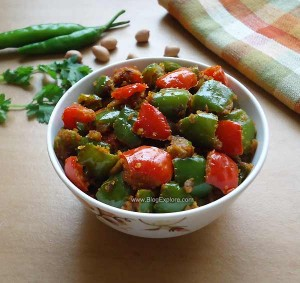 capsicum peanut stir fry recipe, bell pepper peanut fry recipe